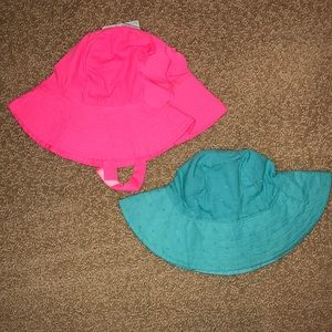 Two Carter's Sunhats - 12-24M